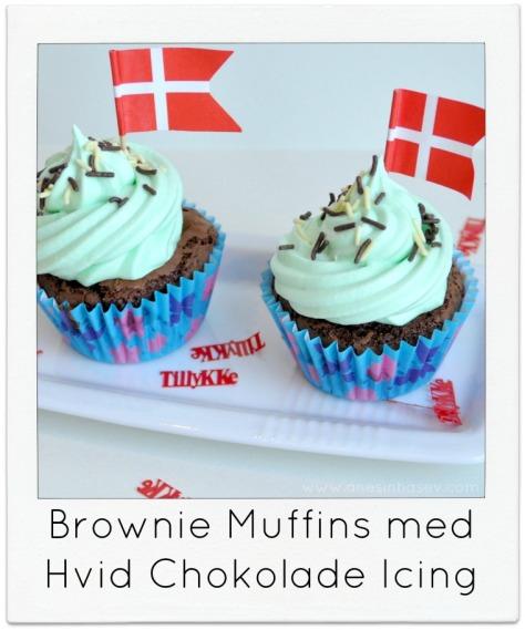 Brownie Muffins med hvid chokolade