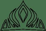 Molde para a coroa da Elsa - festa Frozen anesinhasev.com