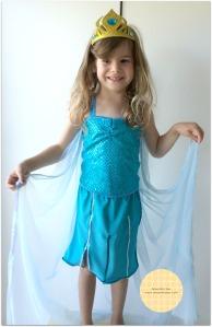 Vestido da Elsa Festa Frozen Anesinha