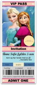 Convite VIP Festa Frozen Anesinha