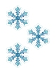 Cristais de gelo - Festa Frozen anesinhasev.com