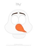 Máscara do Olaf - Festa Frozen anesinhasev.com